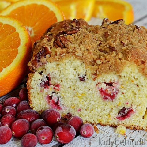 Cranberry Orange Streusel Quick Bread