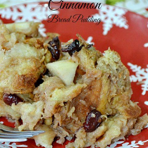 Cranberry Pear Cinnamon Bread Pudding