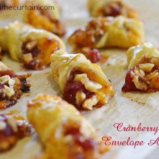 Cranberry Pear Envelope Appetizers