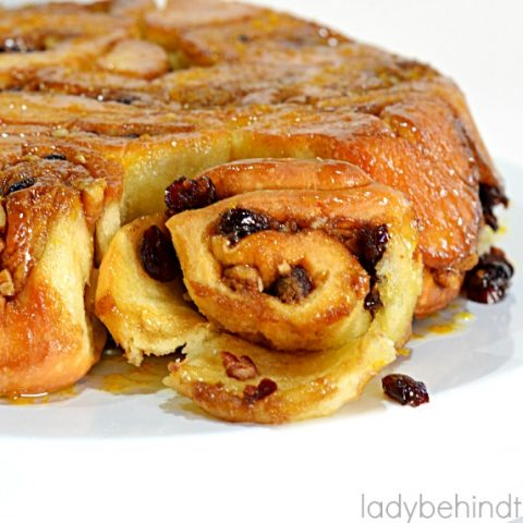 Cranberry Sweet Roll Pull Apart