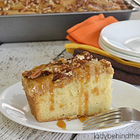 How to Make Easy Caramel Sheet Cake