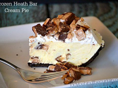 Frozen Heath Bar Cream Pie