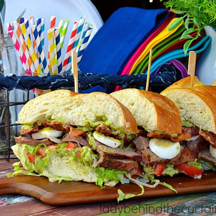 Grilled Beef Cobb Sandwich