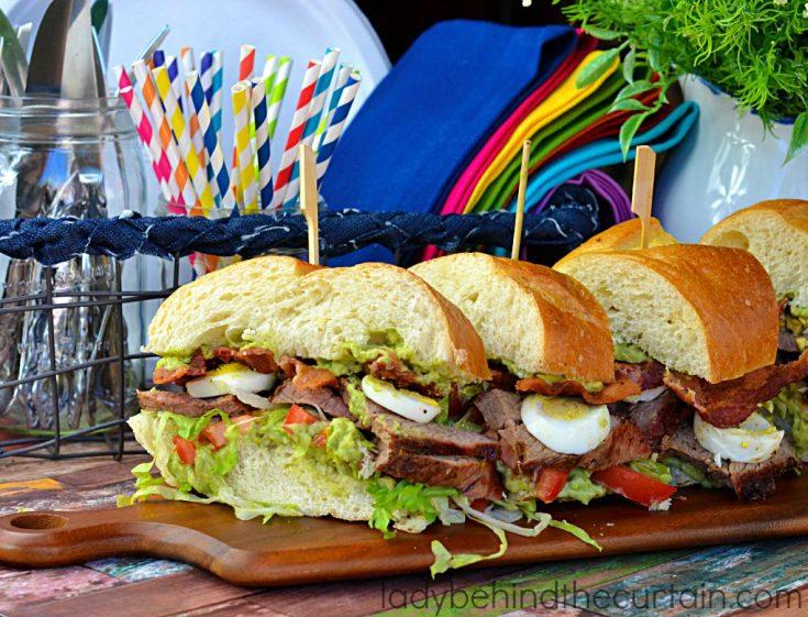 Grilled Beef Cobb Sandwich