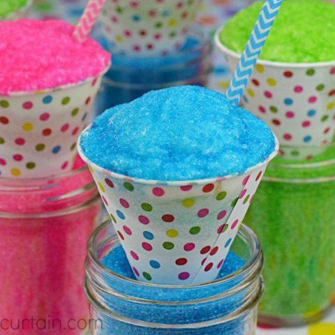 Jello Snow Cone Cupcakes