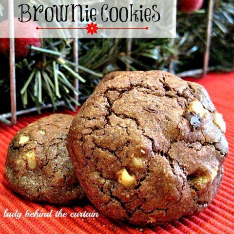 Double-Chocolate Brownie Cookies