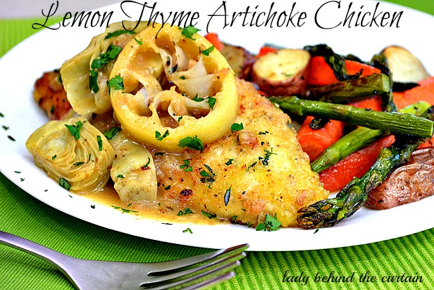 Lemon-Thyme and Artichoke Chicken
