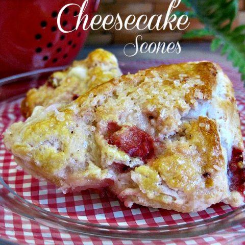 Strawberry Cheesecake Scones