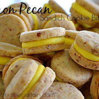 Lemon Pecan Sandwich Cookie Bites