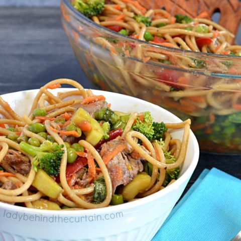 Light Asian Beef Noodle Salad