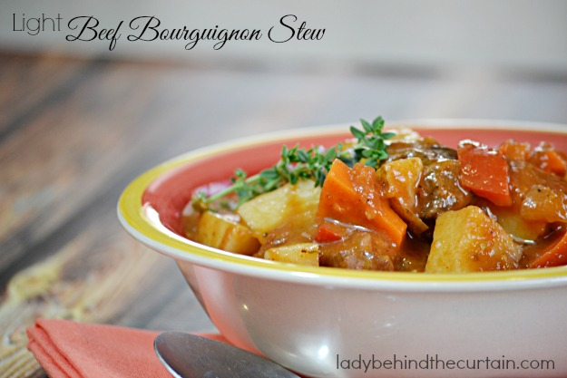 Light Beef Bourguignon Stew
