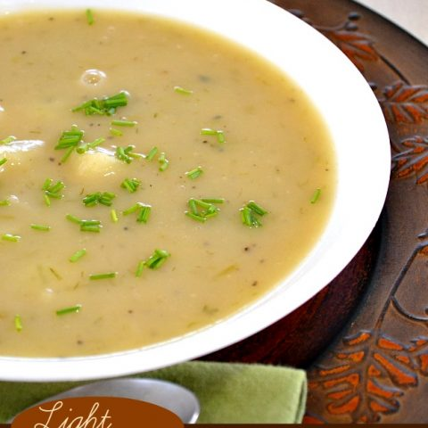 Light Creamed Potato Soup