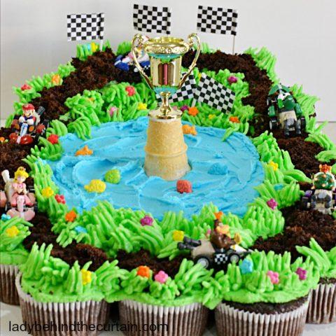 Mario Kart Cupcake Pull Apart