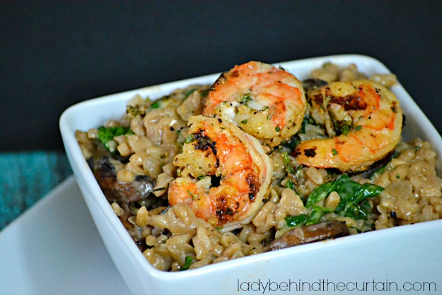 Marsala Risotto with Herbed Shrimp