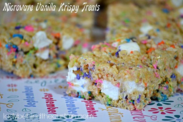 Microwave Vanilla Krispy Treats