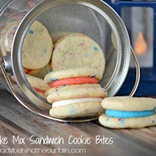 Mini Cake Mix Sandwich Cookie Bites