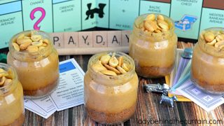 Mini Payday Cheesecakes