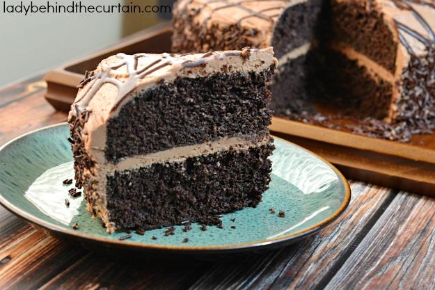 Mocha Devil's Food Cake