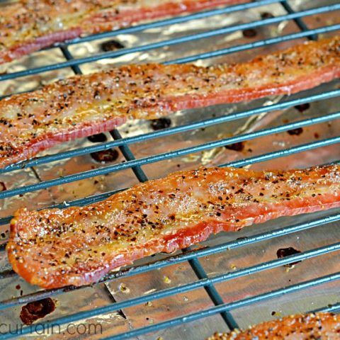 Oven Baked Peppered Bacon