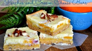 Peaches and Cream Cheese Bars