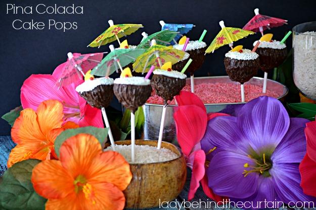 Pina Colada Cake Pops