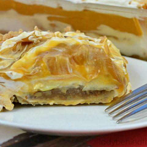 Praline Caramel Apple Pudding Dessert