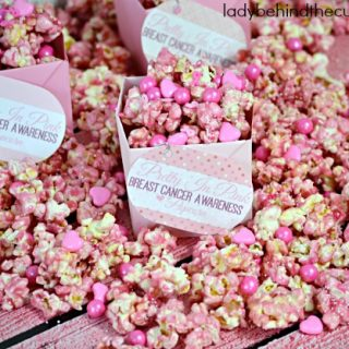 Pretty in Pink Breast Cancer Awareness Popcorn