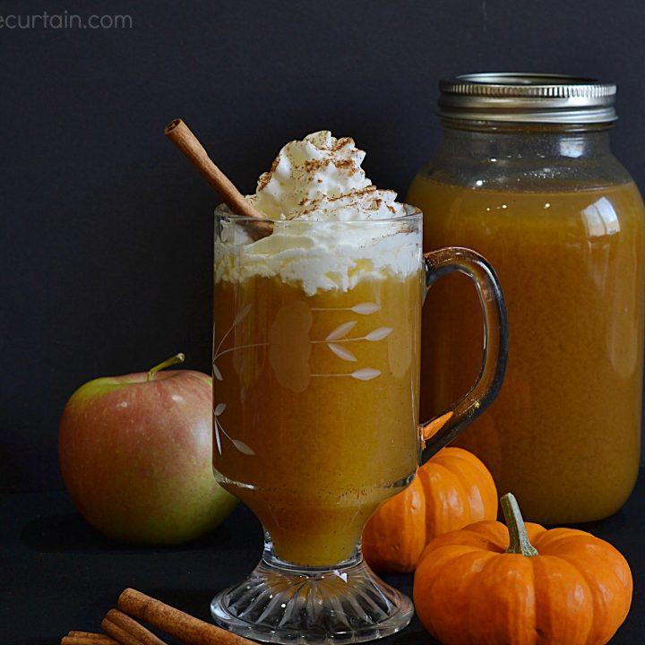 Pumpkin Butter Infused Hot Apple Cider