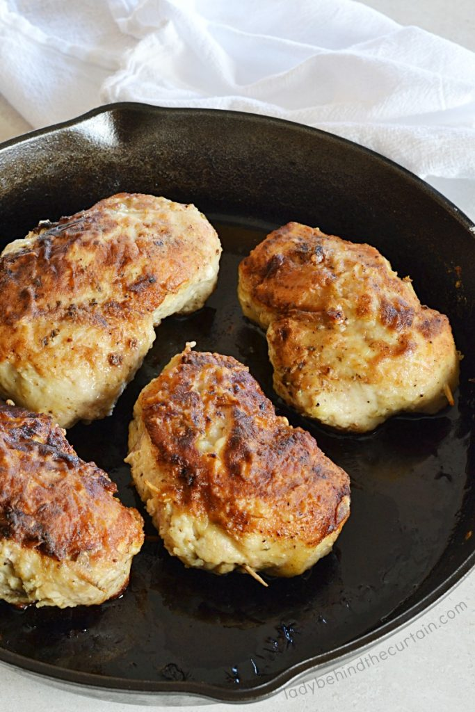 Semi Homemade Pesto Stuffed Chicken Breast