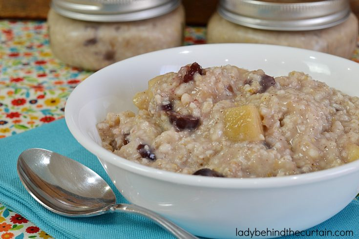 Slow Cooker Cranberry Apple Oatmeal