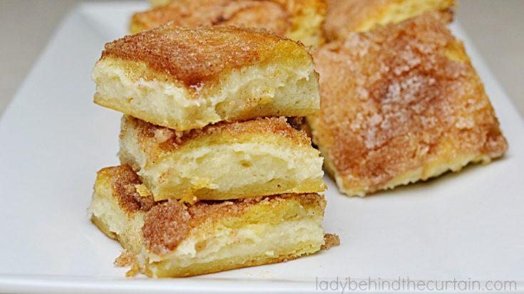 Sopaipilla Cheesecake Squares