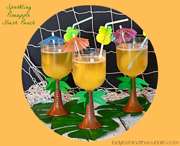 Sparkling Pineapple Slush Punch
