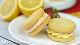 Strawberry Lemonade Cheesecake Sandwich Cookies