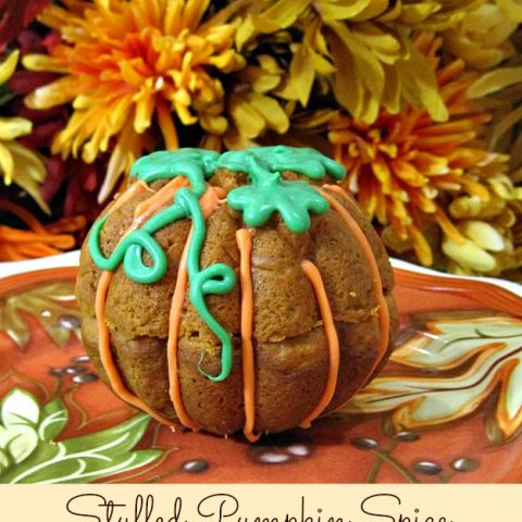 Stuffed Pumpkin Spice Mini Cakes