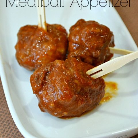Sweet and Spicy Meat Ball Appetizer
