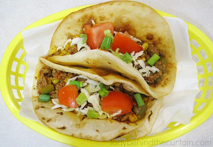 Tex-Mex Sloppy Joe Tacos