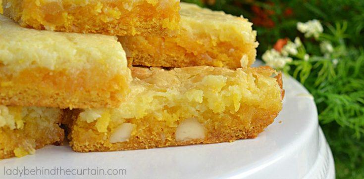 Tropical Mango Gooey Butter Cake