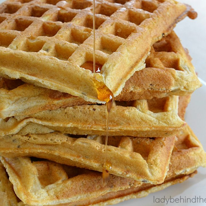 Whole Wheat Flaxseed Buttermilk Waffles