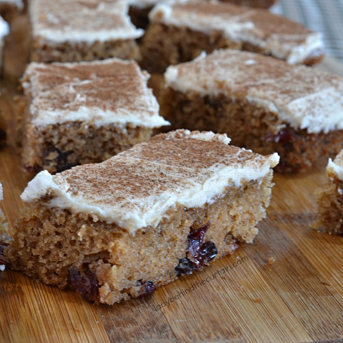 Applesauce Cranberry Bars