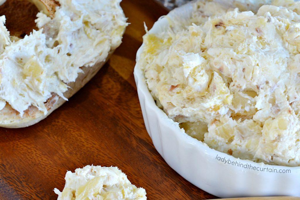Pineapple Coconut Cream Cheese Spread
