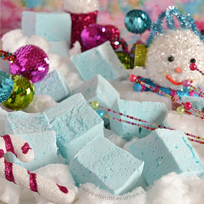 Easy to Make Homemade Cotton Candy Flavored Marshmallows