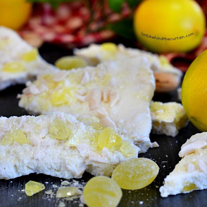 Lemon Drop White Chocolate Bark