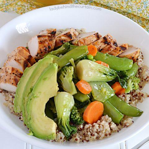 Copycat True Food Kitchen Quinoa Teriyaki Chicken Bowl