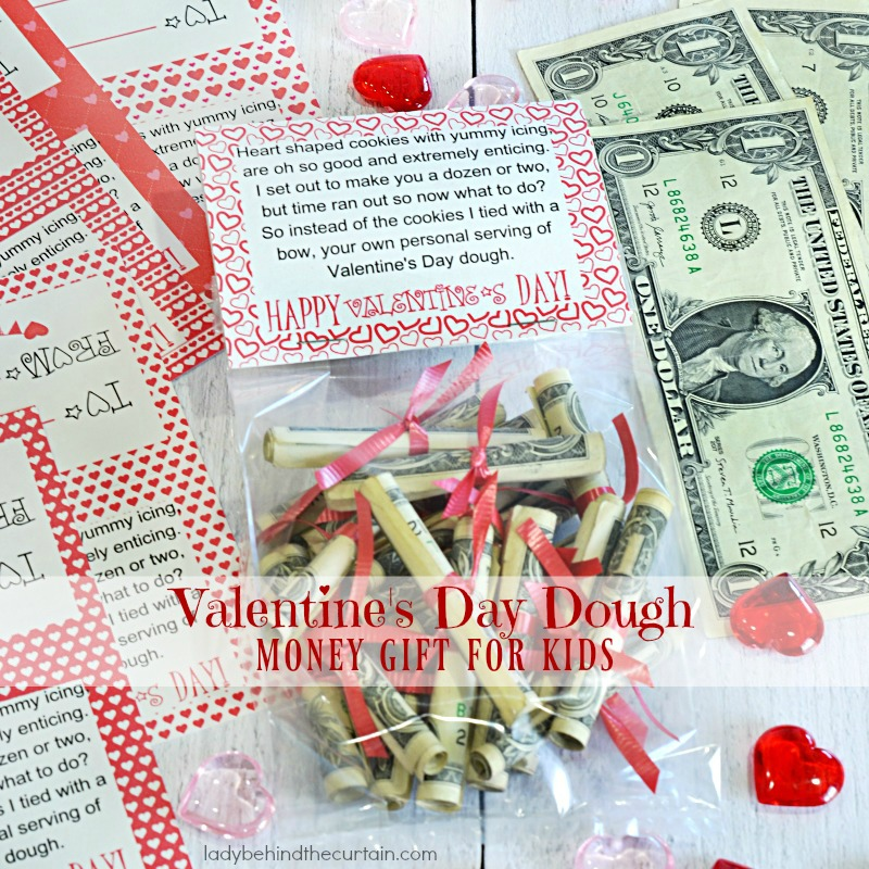 Valentine's Day Dough Money Gift for Kids