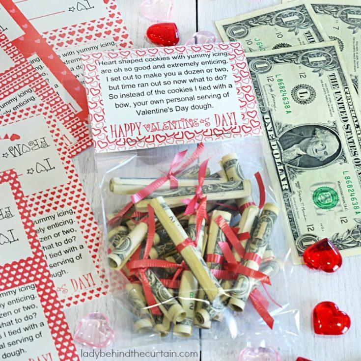 Valentine S Day Dough Money Gift For Kids Gift Bag Topper