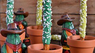 Desert Saguaro Cactus Decorated Pretzels