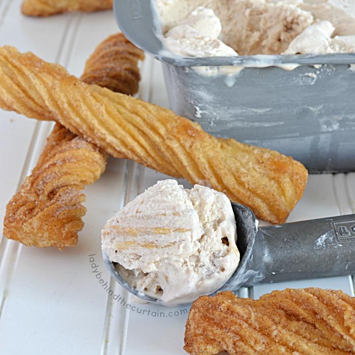 Easy No Cook Churro Ice Cream