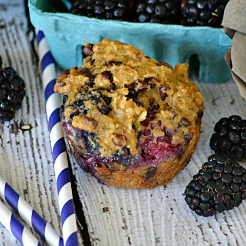 Light Blackberry Chocolate Chip Muffins