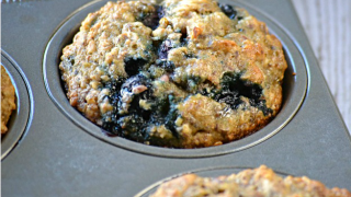 Light Blueberry Banana Muffins