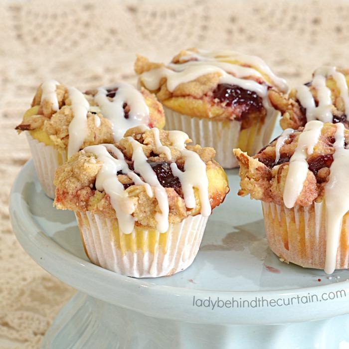 Semi Homemade Raspberry Coffee Cake Mini Muffins